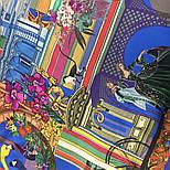 Платок шелковый 10144-13, павлопосадский платок шелковый (атласный) с подрубкой, фото 3