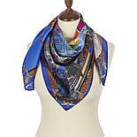 Платок шелковый 10144-13, павлопосадский платок шелковый (атласный) с подрубкой, фото 2