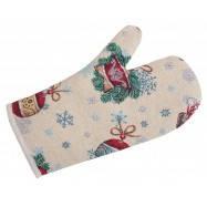 Рукавица новогодняя гобеленовая,  17х30 см, Эксклюзивные подарки, Новогодний текстиль