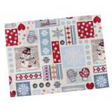 Кухонная рукавица, Новогодний печворк,  размер 15х25 см, Оригинальные подарки, Домашний текстиль, фото 2