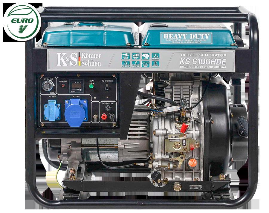 Дизельный генератор Könner & Söhnen KS 6100HDE (Euro V) 5 кВт