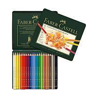 Карандаши цветные Faber-Castell Polychromos 24 цвета в металлической коробке 110024 (15441)