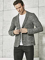 Серый мужской пиджак LC Waikiki / ЛС Вайкики меланжевый c 2 карманами, фото 1