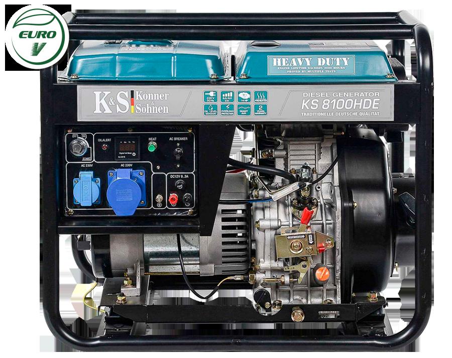 Однофазный дизельный генератор Könner & Söhnen KS 8100HDE (Euro V) 6.5 кВт