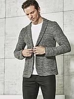 Серый мужской пиджак LC Waikiki / ЛС Вайкики меланжевый c 2 карманами 3XL
