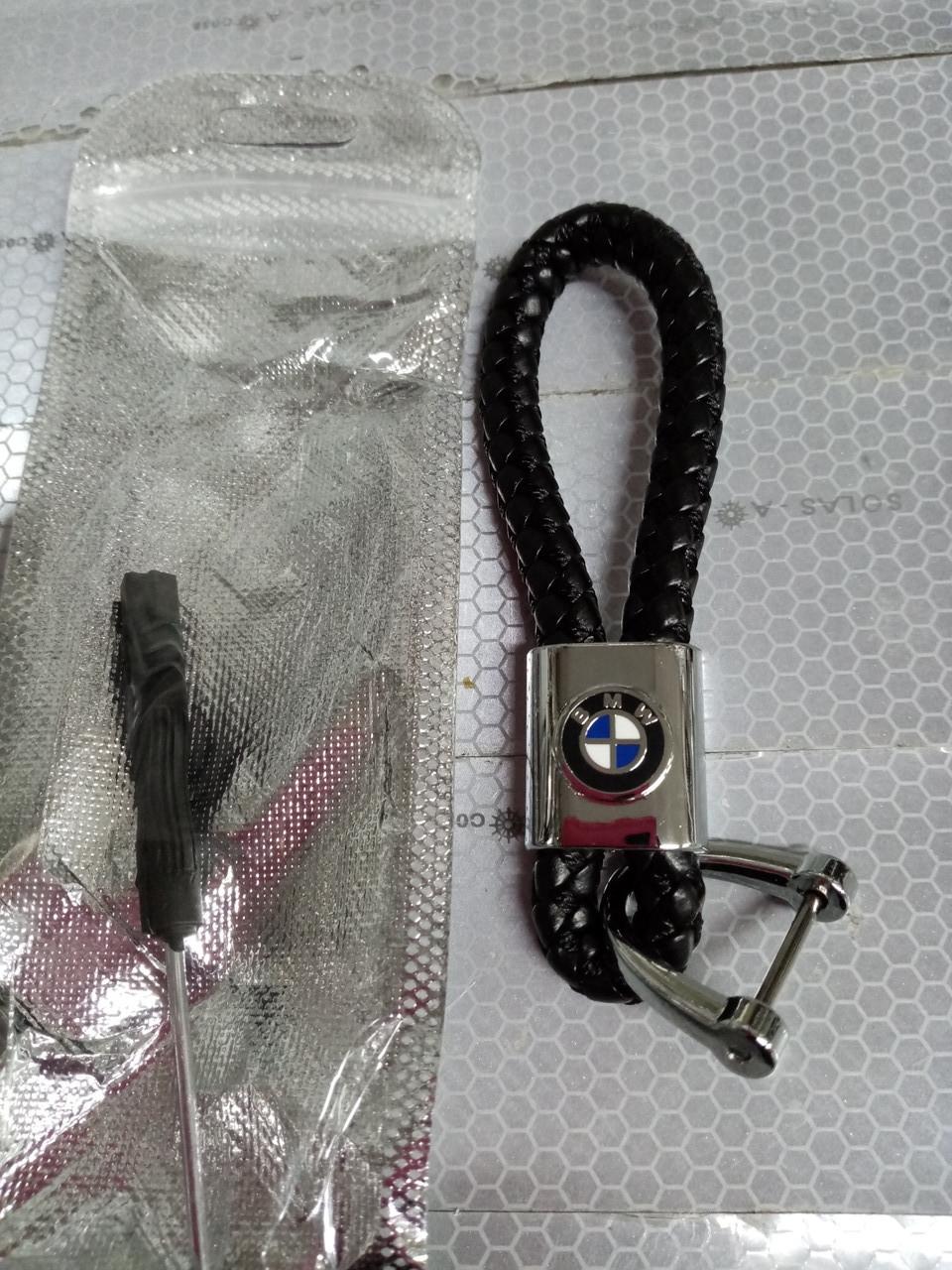 Брелок-петля BMW   эко-кожа