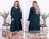 Стильное платье  (размеры 48-58) 0227-35, фото 2