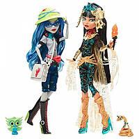 Monster High Набор кукол Клео Де Нил Гулия Йелпс Комик Кон 2017 SDCC 2017 Comic Con Ghoulia Yelps Cleo de Nile 2 Pack