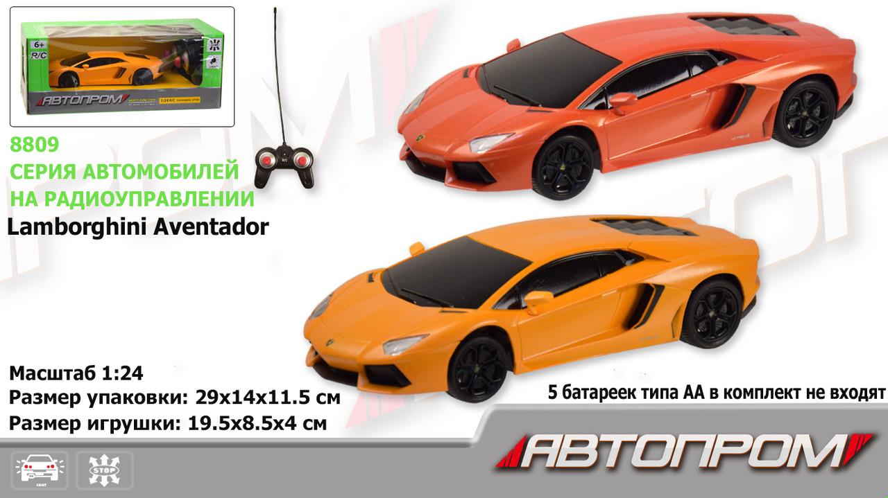 """Р. У машина батар. """"АВТОПРОМ"""",1:24 R/C Lamborghini LP700, 2 кольори, в кор. 29*14*11,5 см /24/"""