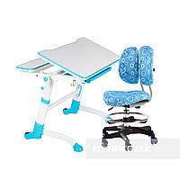 Комплект регулируемая парта Volare Blue + ортопедическое кресло  SST6 Blue FunDesk