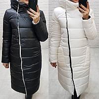 Куртка (2 в 1) двухсторонняя женская, арт. 1007, черный-белый