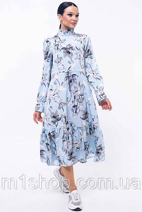 Женское цветочное платье-миди под горло (Рут ri), фото 2