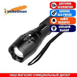 Фонарь фокусируемый Pocketman Torch 007. Ручной, 12000Lm, 5-ть режимов. Комплект (з/у+акб-1шт).
