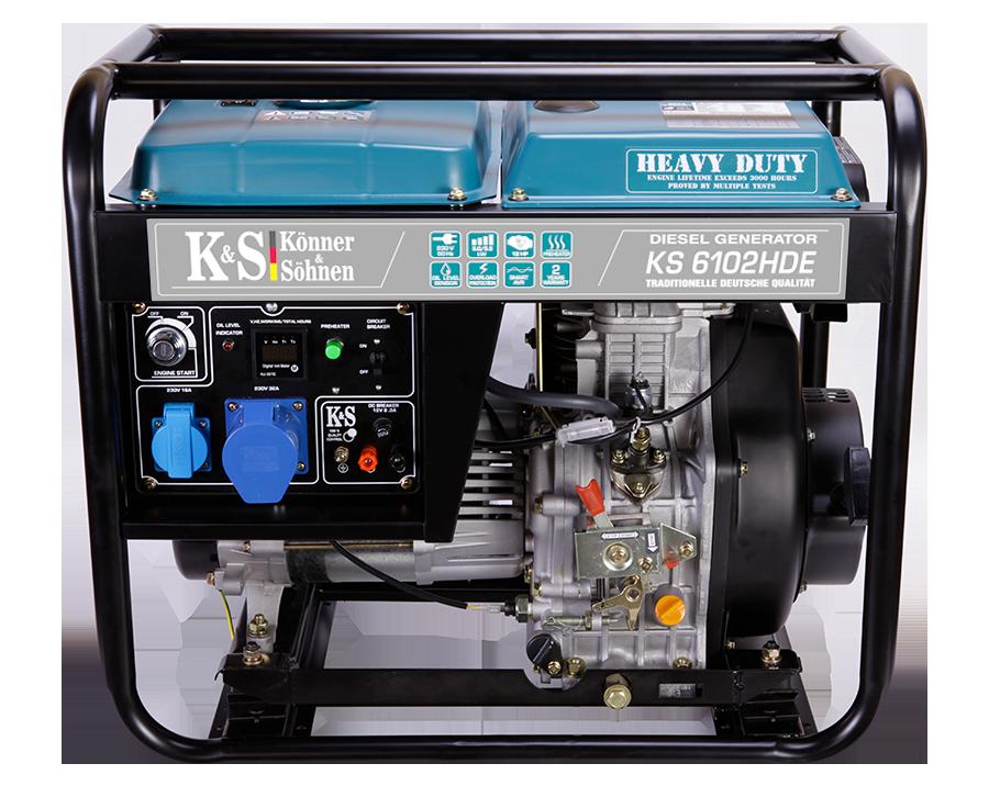 Дизельный генератор Könner & Söhnen KS 6102HDE (Euro II) 5 кВт
