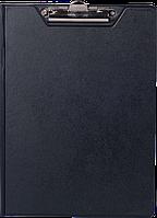Папка-планшет А4 Economix с прижимом, ПВХ черная
