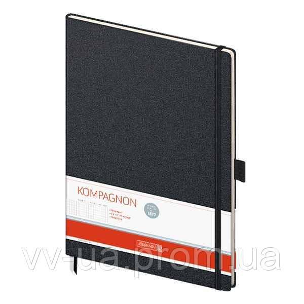 Книга записная Brunnen Компаньон черная А4, клетка (10-552 88 05)