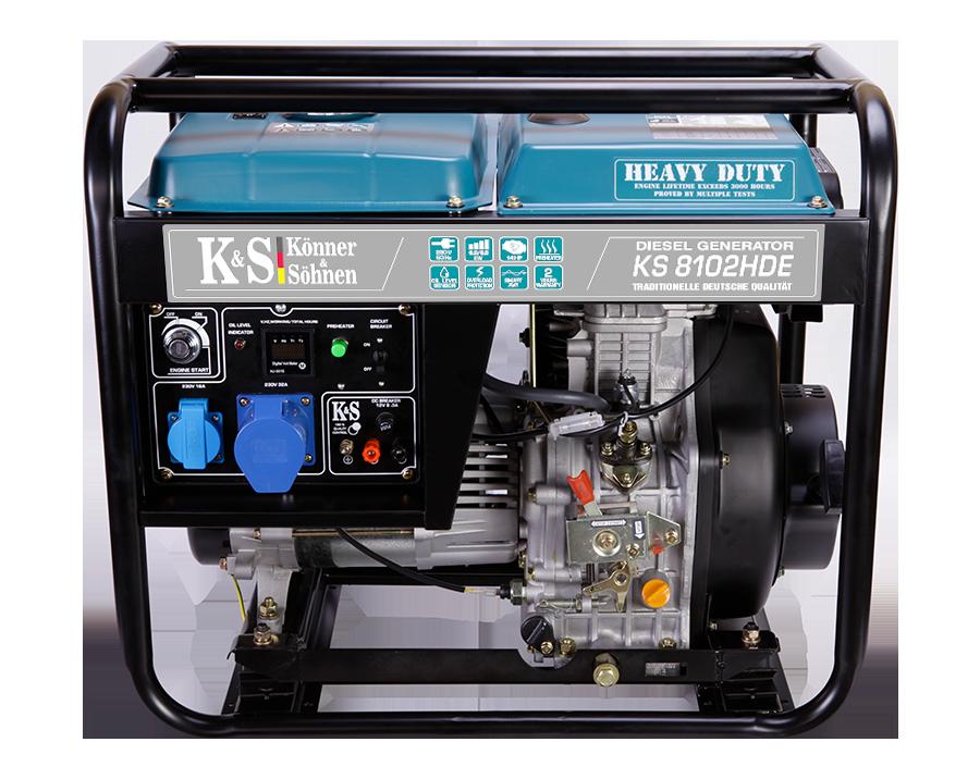 Дизельный генератор Könner & Söhnen KS 8102HDE (Euro II) 6 кВт