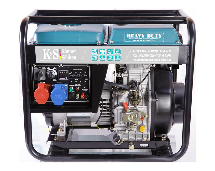 Дизельный генератор Könner & Söhnen KS 8102HDE-1/3 ATSR (Euro II) 6.5 кВт