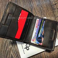 Стильний гаманець ручної роботи на магнітах з євро монетницею Grande Pelle