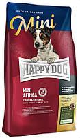 Корм для собак мелких пород с чувствительным пищеварением Happy Dog Mini Africa Хэпп Дог Мини Африка 12.0, 4 кг