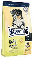 Сухой безглютеновый корм для щенков средних и крупных пород собак Happy DogBaby Lamb Rice Хэппи Дог