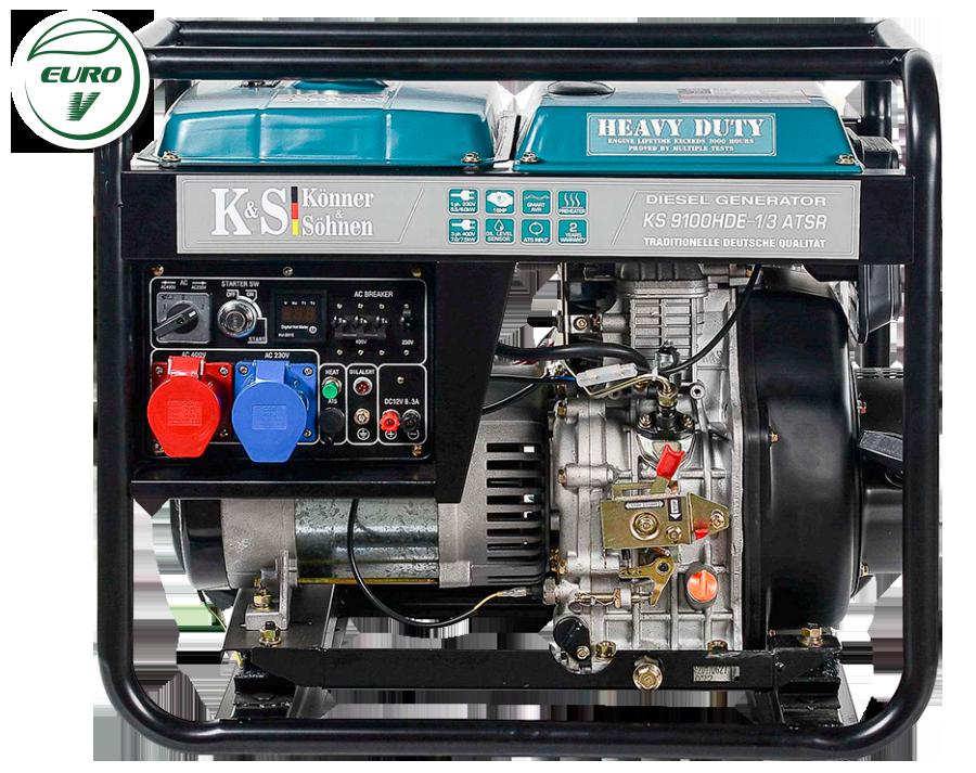 Дизельный генератор Könner & Söhnen KS 9100HDE-1/3 ATSR (Euro V) 7 кВт
