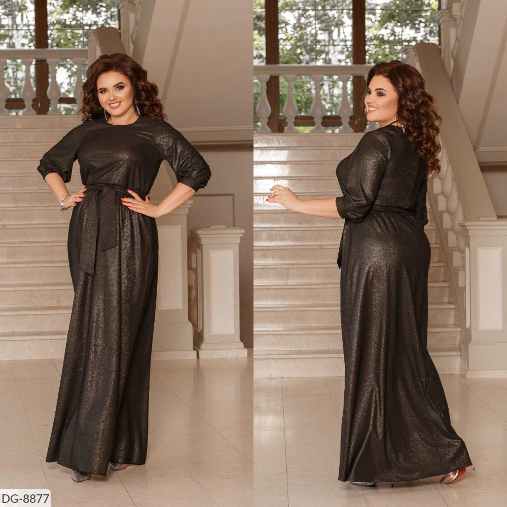 Стильное платье  (размеры 48-58) 0227-45