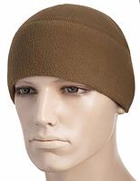 Зимняя тактическая шапка-подшлемник из флиса цвет койот 40002005
