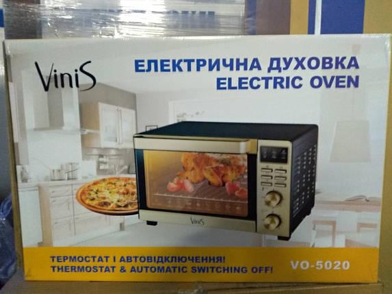 Электродуховка VINIS VO-5020G (конвекция , пицца, гриль, подсветка), фото 2