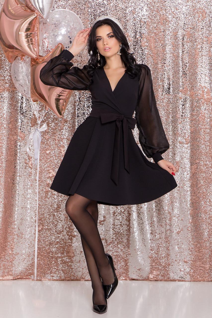 Эффектное нарядное платье Джелла с рукавами из органзы