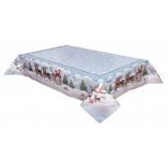 Скатерть новогодняя гобеленовая, 137х280 см, Эксклюзивные подарки, Новогодний текстиль