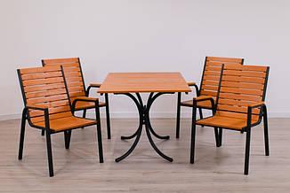 Комплект мебели Таи Стол + 4 стула Тик