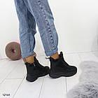 Женские зимние ботинки черного цвета, эко кожа 36 ПОСЛЕДНИЕ РАЗМЕРЫ, фото 2