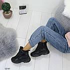Женские зимние ботинки черного цвета, эко кожа 36 ПОСЛЕДНИЕ РАЗМЕРЫ, фото 3