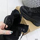 Женские зимние ботинки черного цвета, эко кожа 36 ПОСЛЕДНИЕ РАЗМЕРЫ, фото 4