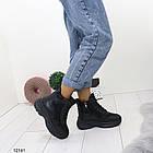 Женские зимние ботинки черного цвета, эко кожа 36 ПОСЛЕДНИЕ РАЗМЕРЫ, фото 5