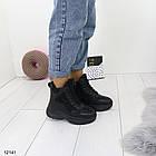 Женские зимние ботинки черного цвета, эко кожа 36 ПОСЛЕДНИЕ РАЗМЕРЫ, фото 6