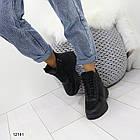 Женские зимние ботинки черного цвета, эко кожа 36 ПОСЛЕДНИЕ РАЗМЕРЫ, фото 7
