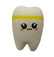 Мягкая игрушка антистресс Сквиши Squishy Зуб №61 - Желтый
