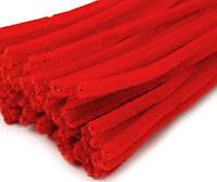 Плюшевая проволока Красная, фото 1