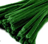 Плюшевая проволока Темно-зеленая