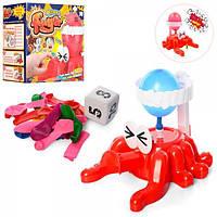 Игра Взорвать воздушный шар (осьминог 15,5см, шарики, кубик), 023