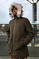 Куртка мужская темно-зеленая 6705, фото 1