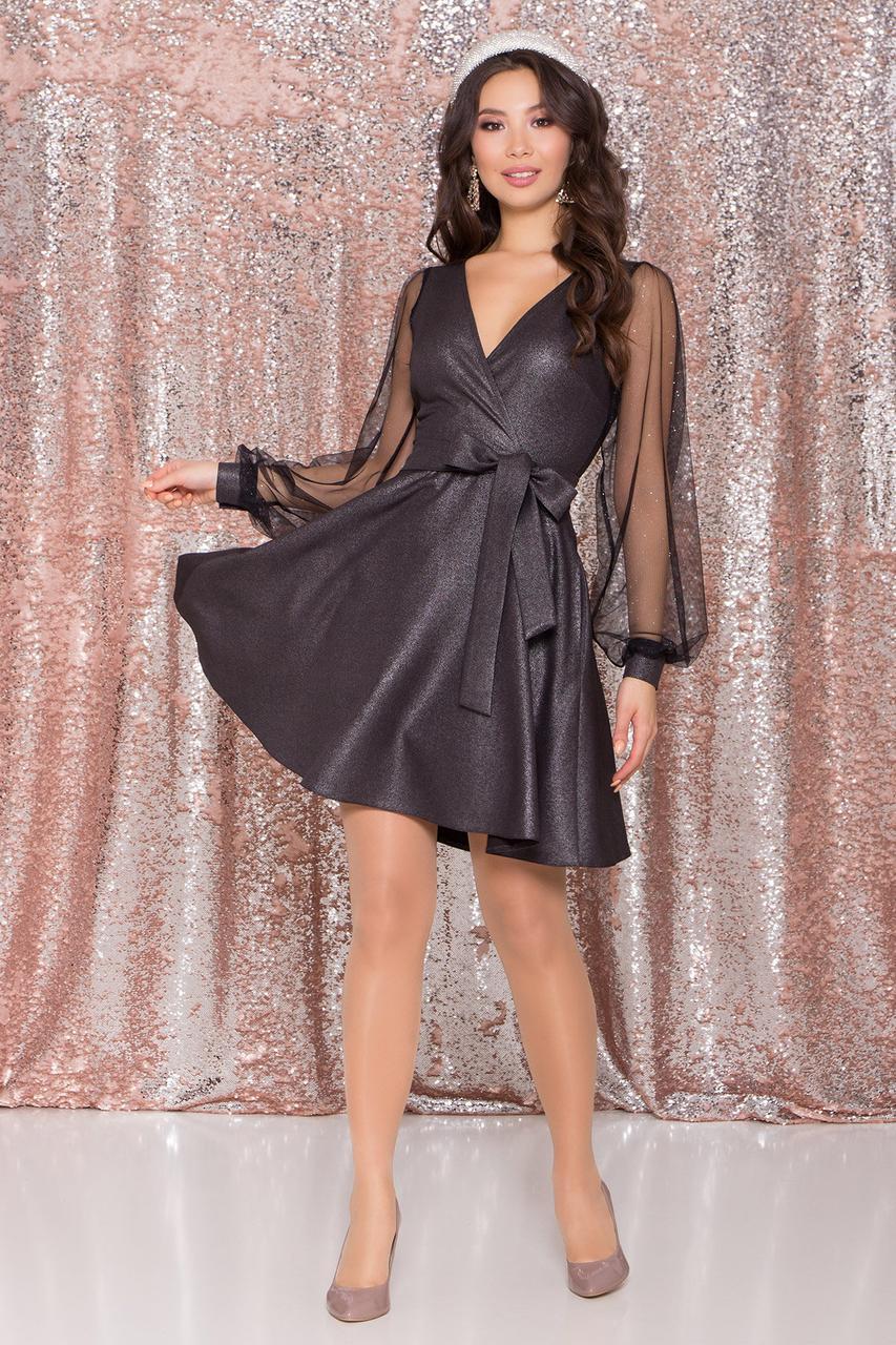 Эффектное нарядное платье Джелла-3 с рукавами из органзы