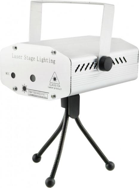 Лазерный проектор, стробоскоп, диско лазер UKC HJ06 6 в 1 c триногой Steel