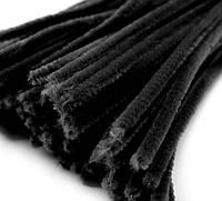 Плюшевая проволока Черная
