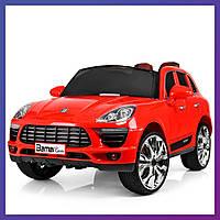 Детский электромобиль Porsche c пультом Bambi M 3289 EBLR-3 красный | Дитячий електромобіль Бембі червоний