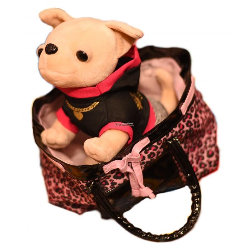 Интерактивная собачка Кикки в сумочке