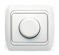 Выключатель реостатный диммер светорегулятор 1000 Вт ABB EL-Bi Tuna для внутреннего монтажа белый