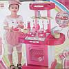 Кухня 008-58(А) (красная и розовая) с посудой, музыка, светится , фото 3